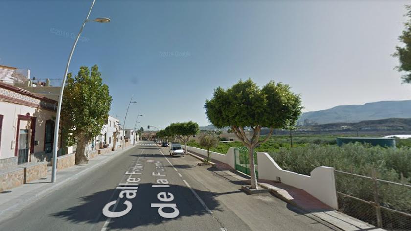 Imagen captura de la calle Félix Rodríguez de la Fuente en Rioja.