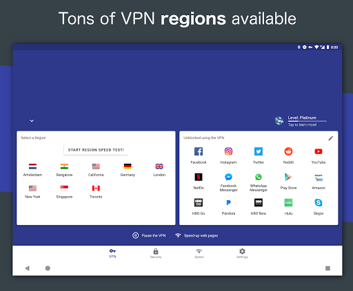 Free and Unlimited VPN - Safe, Secure, Private! 6.3.1003 screenshots 10