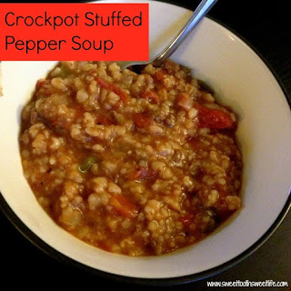 Crockpot Stuffed Pepper Soup