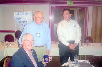 Photo: Morgan Gilreath showing off his  4-Way-Test Coffee Mug with Blaine and Joe    - 3-11-08