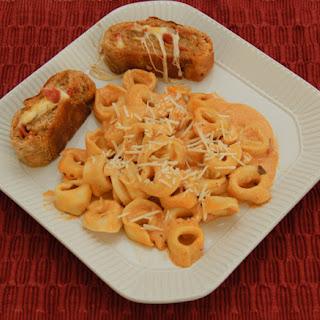 Tortellini in Creamy Rose Sauce & Pizza Stromboli
