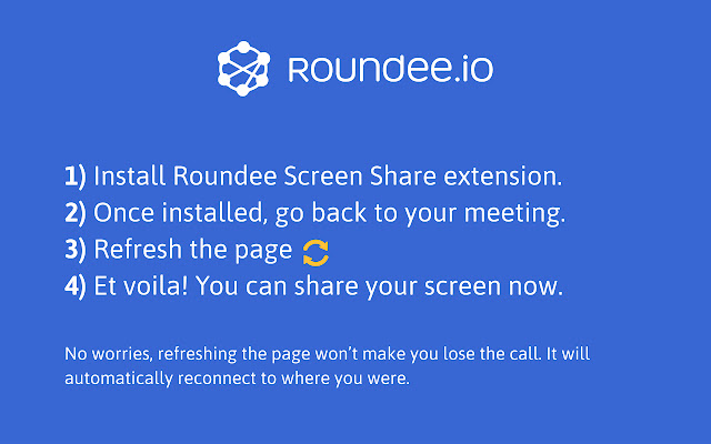 Roundee Screen share