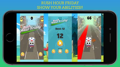 Code Triche Rush Hour Friday - Jeu de Course de Voiture mod apk screenshots 6