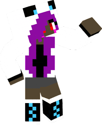 I wonted to make her hold a diamond sword but it looked like it was chopping her head off so I diden't add it =3