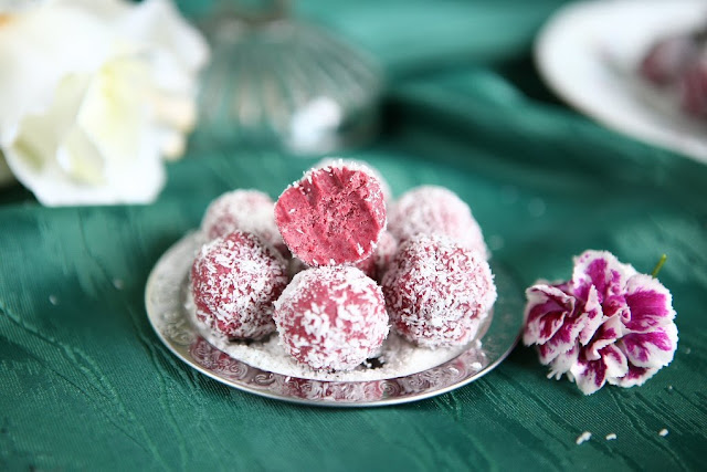 White Chocolate Beetroot Truffles