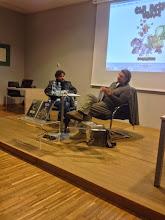 Photo: Striparski večer z Iztokom Sitarjem in Zoranom Smiljaničem v Mestni knjižnici Kranj. (Foto MKK)