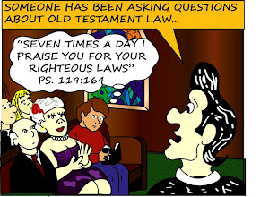 "Photo: Questions about Old Testament Law: ""Seven times a day I praise you for your righteous laws"" Ps. 119:164"