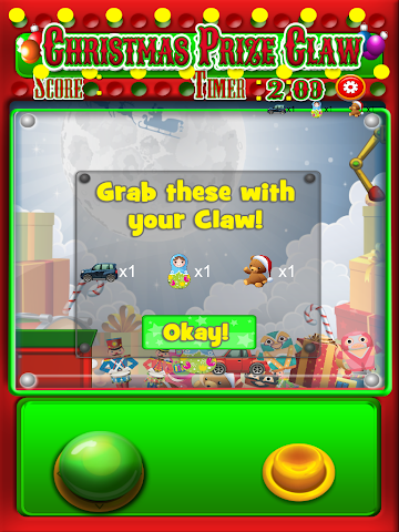 android Christmas Prize Claw Kids FREE Screenshot 2