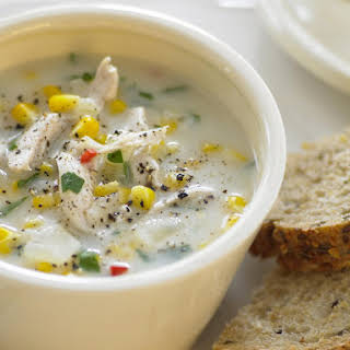 Spicy Chicken and Corn Soup.