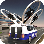 Flying Drone Ambulance Icon