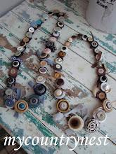 Photo: collane con bottoni vintage, modello ricco