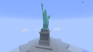 Photo: the statue of liberty, built by Marissa20 and P. Steadman (aka Rhubidium, from http://letsbuild.net)