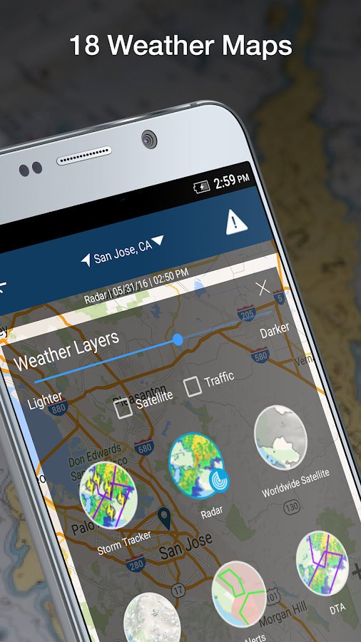WeatherBug: captura de pantalla