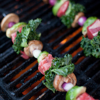 Steak Kabobs with Fancy Vegetables