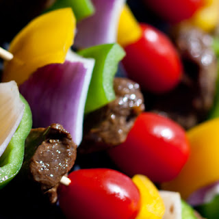 Bison Kabobs with Stew Meat.