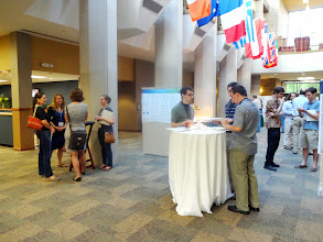 Photo: Reception and poster session