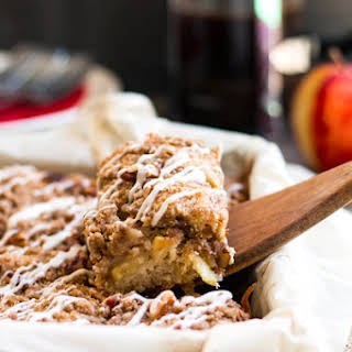 Gluten Free Apple Coffee Cake with Pecans.
