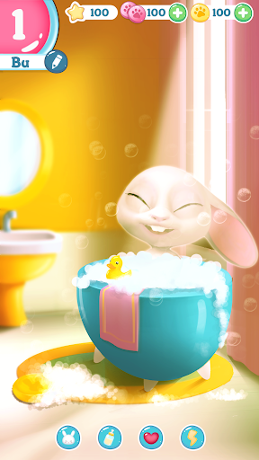 Bu the virtual Bunny - Cute pet care game 2.7 screenshots 2