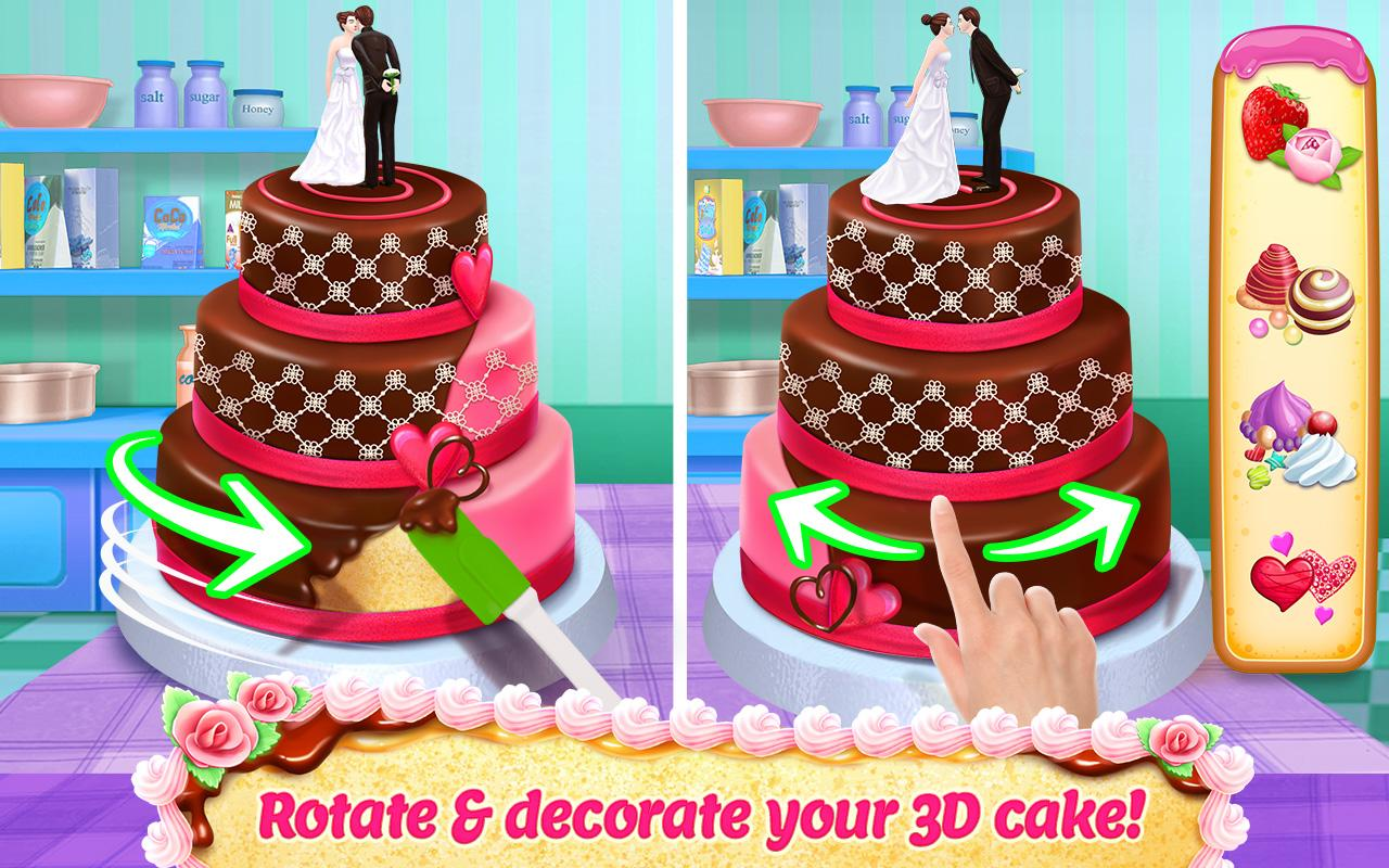 how to bake and decorate wedding cake real cake maker 3d bake design amp decorate android 15572
