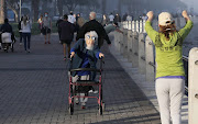 Yamina Oliver, 90, has been taking daily walks on the Sea Point promenade since the lockdown restrictions were relaxed.