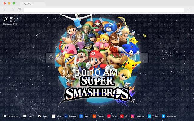 Super Smash Bros New Tabs Games HD Themes