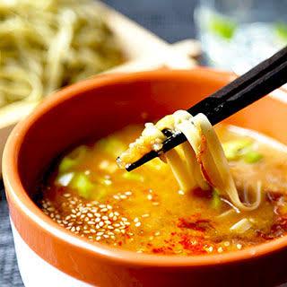 Spicy Miso Tsukemen (Dipping Noodles).