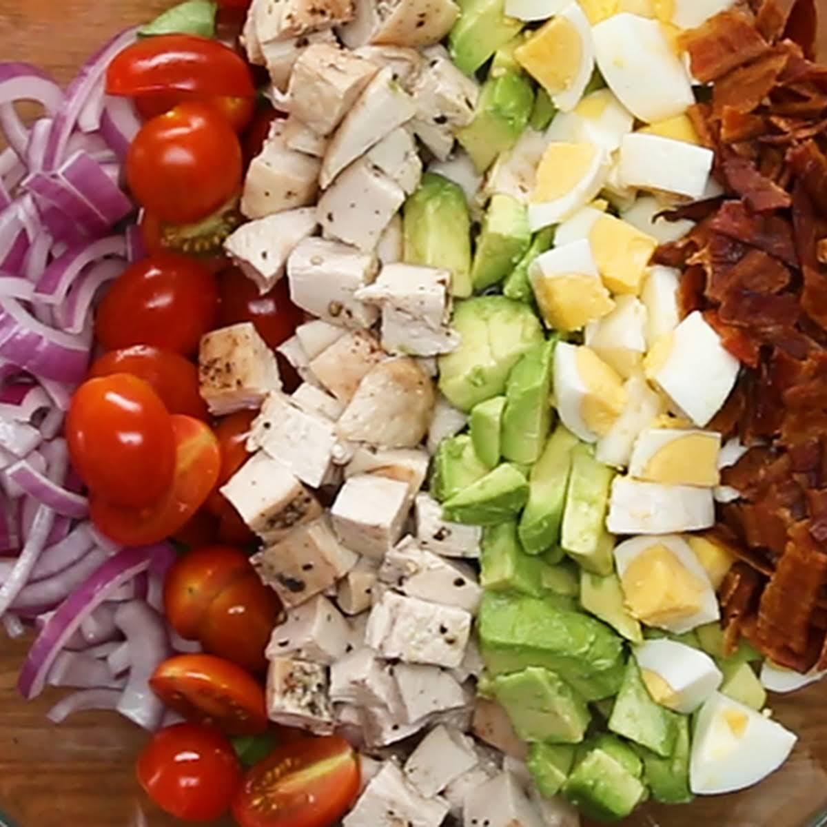 Chicken Cobb Ranch Salad  gone Homemade Ranch