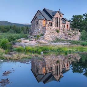 Chapel on a Rock by Ken Smith - Buildings & Architecture Places of Worship ( st malo chapel, landscape, estes park )