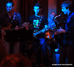 Photo: Albi, Jacob and friends at the Dancing Cat.