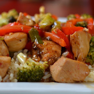 Chili Garlic Chicken Stir Fry.