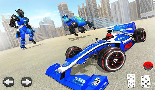 Police Chase Formula Car Transform Cop Robot Games screenshot 11