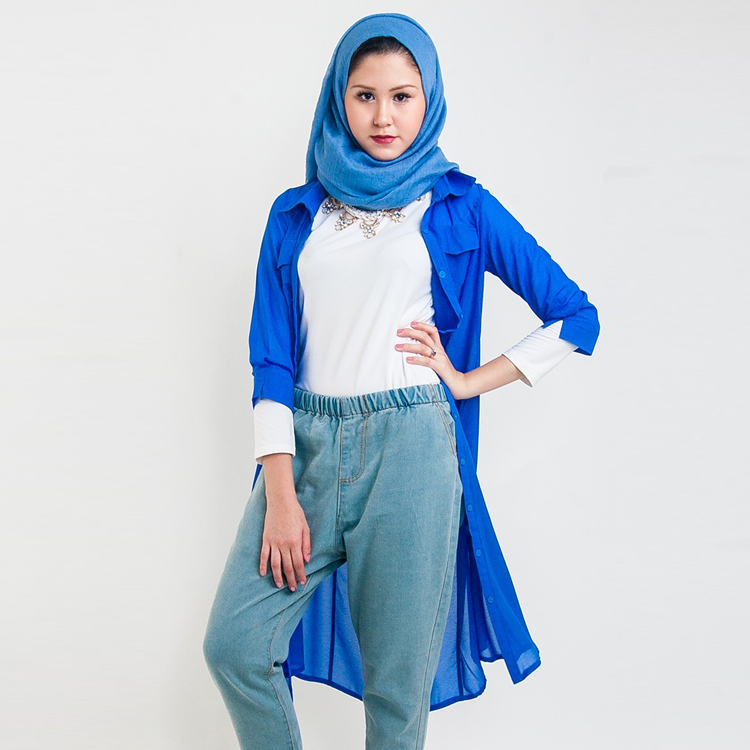 Sapphire Light Overcoat by Hijab Le Modesty