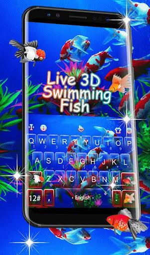 Live 3D Swimming Fish Keyboard Theme 6.5.22 screenshots 1