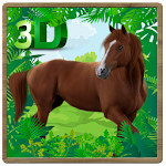 Wild Horse Jungle Simulator 3D Icon
