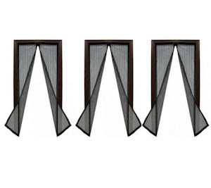 Set 3 perdele magnetice antiinsecte 210 x 100 cm