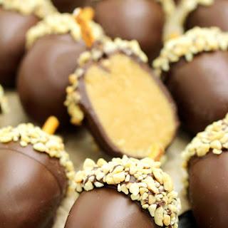 Peanut Butter Chocolate Acorn Truffles Recipe