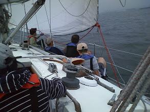 Photo: 艇速2ノットがやっと