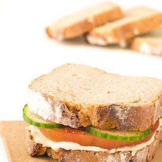 Simple Hummus Sandwich.