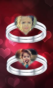 Couple Ring Photo Frame - náhled