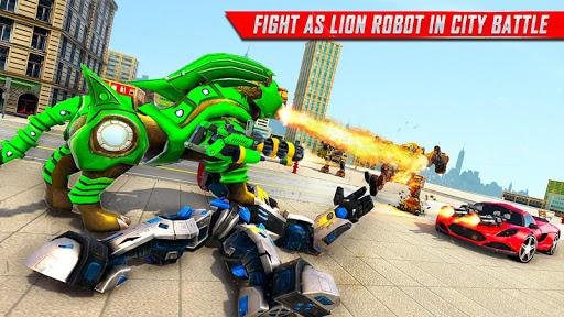 Lion Robot Car Transforming Games: Robot Shooting 1.4 screenshots 18