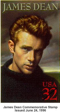 James Dean stamp.