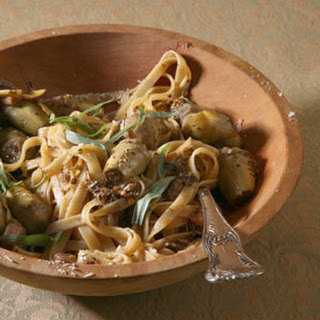Fettuccine with Artichokes and Chicken.
