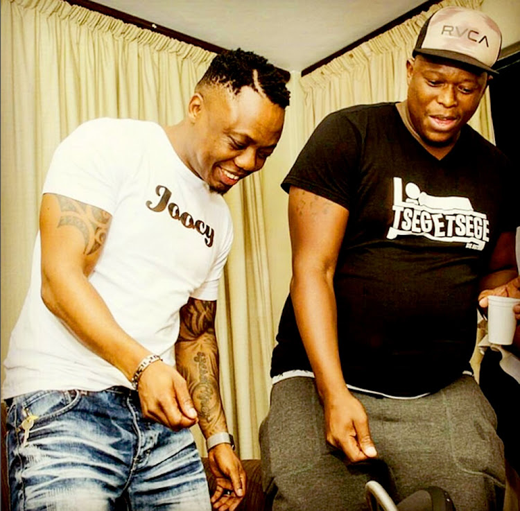 DJ Tira and Mampintsha during happy times.