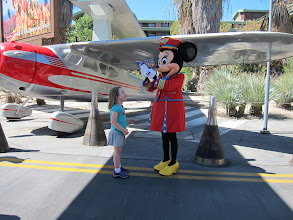 Photo: Fianna and Minnie Mouse at Disney's California Adventure Park, 2013