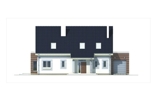 Ada wersja A z podwójnym garażem - Elewacja przednia