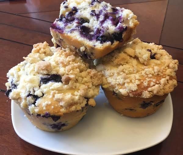 Blueberry Lemon  Crumb Muffins