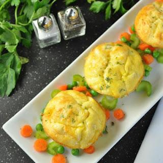 Chicken Pot Pie Egg Muffins - Low Carb, Gluten Free #Recipe