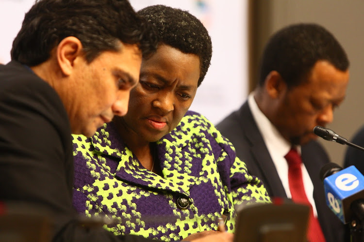 Former social development director general, Zane Dangor with minister Bathabile Dlamini. Picture: THE TIMES/HALDEN KROG