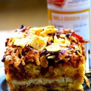 Quick and Easy Vegan Taco Cornbread Casserole.