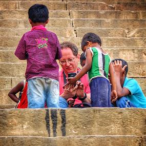 moksha  by Pranjal  Kumar Ƿrānx - People Street & Candids ( nature, poor, banaras )